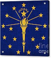 Indiana State Flag Acrylic Print