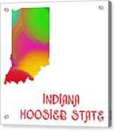 Indiana State Map Collection 2 Acrylic Print