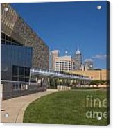 Indiana State Museum And Indianapolis Skyline Acrylic Print