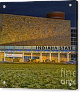Indiana State Museum Night Delta Acrylic Print