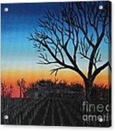 Indiana Sunset Acrylic Print