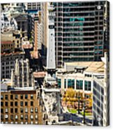 Indianapolis Aerial Picture Of Monument Circle Acrylic Print