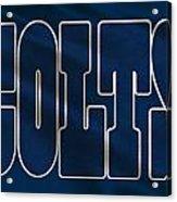 Indianapolis Colts Uniform Acrylic Print