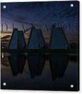 Indianapolis Indiana Hoosiers Pyramids Name Acrylic Print