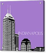 Indianapolis Indiana Skyline - Violet Acrylic Print