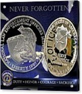 Indianapolis Metro Police Memorial Acrylic Print