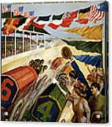 Indianapolis Motor Speedway - Vintage Lithograph Acrylic Print