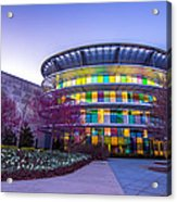 Indianapolis Museum Of Art Blue Hour Lights Acrylic Print by David Haskett