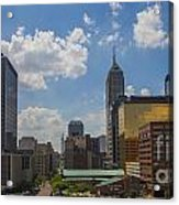 Indianapolis Skyline June 2013 Acrylic Print by David Haskett