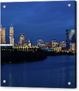 Indianapolis State Capitol And Skyline Acrylic Print