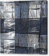 Indigo Squares 3 Of 5 Acrylic Print
