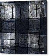 Indigo Squares 4 Of 5 Acrylic Print