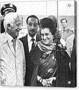 Indira Gandhi At Jfk Airport Acrylic Print