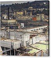 Industrial Area Along River Panorama Acrylic Print