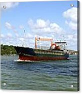 Industrial Cargo Ship Acrylic Print
