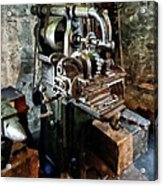 Industrial Gear Cutting Machine Acrylic Print