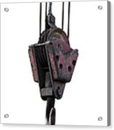 Industrial Lifting Hook And Pulley Acrylic Print