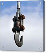 Industrial Lifting Hook Acrylic Print
