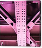 Industrial Metal Purple Acrylic Print