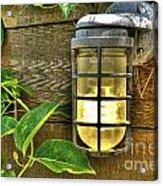 Industrial Outdoor Light Acrylic Print