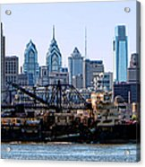 Industrial Philadelphia Acrylic Print by Olivier Le Queinec