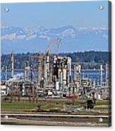 Industrial Refinery Acrylic Print