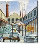 Industrial Revolution 19th C.. Factiry Acrylic Print by Everett