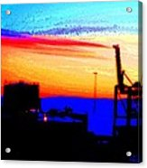 admire an Industrial sunset, because culture is also nature  Acrylic Print