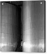 Industry Fuel Tanks At Sunset Acrylic Print