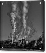 Industry In Black And White 2 Acrylic Print