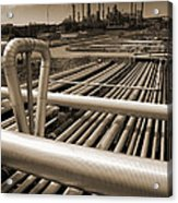Industry Oil Gas And Fuel Acrylic Print by Christian Lagereek