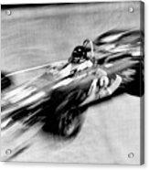 Indy 500 Race Car Blur Acrylic Print