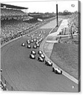 Indy 500 Race Start Acrylic Print