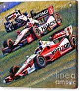 Indy Car's Penske Team Juan Montoya Helio Castroneves Will Power   Acrylic Print