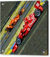 Indy Car's Tony Kanaan Acrylic Print by Blake Richards