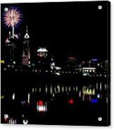Indy Fireworks Acrylic Print by Joji Ishikawa
