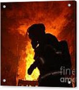 Inferno Acrylic Print by Steven Townsend