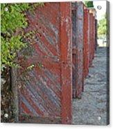 Infinite Red Doors Acrylic Print