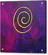 Infinity - Deep Purple With Gold Acrylic Print