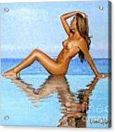 Infinity Pool Nude Acrylic Print