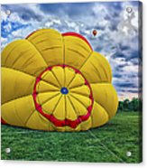 Inflating The Hot Air Balloon Acrylic Print