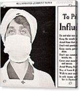 Influenza Prevention, 1918 Pandemic Acrylic Print