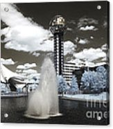 Infrared City Park Acrylic Print