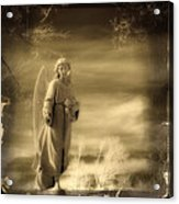 Infrared Dream Angel Acrylic Print
