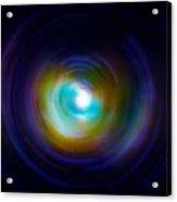 Infrared Iris Spin Art Acrylic Print