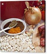 Ingredients For Spanish Chorizo Soup Acrylic Print