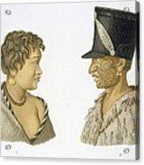 Inhabitants Of New Zealand, 1826 Acrylic Print