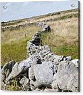 Inis Mor Fields Of Stone Acrylic Print