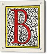 Initial 'b', C1600 Acrylic Print