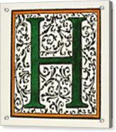 Initial 'h', C1600 Acrylic Print